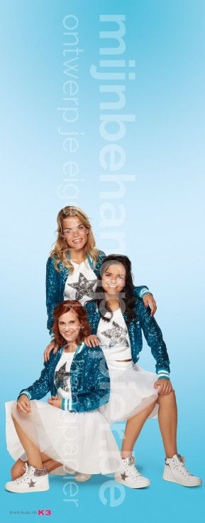 K3 glitterjuken blauw
